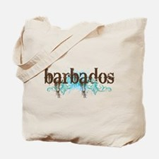 Barbados Grunge Tote Bag