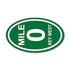 Mile Zero Key West 22x14 Oval Wall Peel
