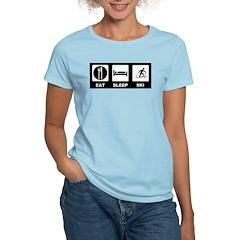 Eat Sleep Ski Women's Light T-Shirt