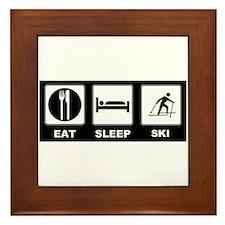 Eat Sleep Ski Framed Tile