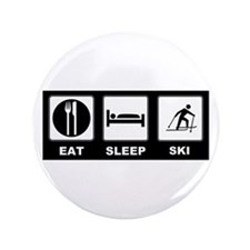 "Eat Sleep Ski 3.5"" Button (100 pack)"