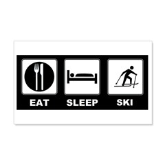 Eat Sleep Ski 22x14 Wall Peel