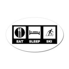 Eat Sleep Ski 22x14 Oval Wall Peel