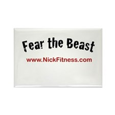 Fear The Beast Exclusive Nick Rectangle Magnet