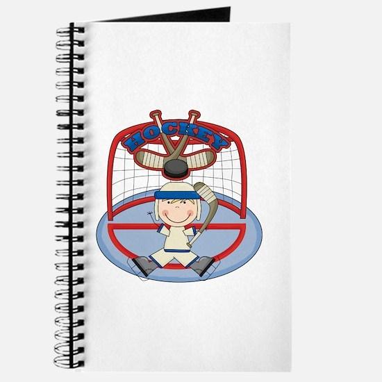 Stick Figure Hockey Goalie Journal