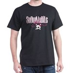 Snowmobile Girl Skull Dark T-Shirt