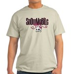 Snowmobile Girl Skull Light T-Shirt