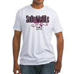 Snowmobile Girl Skull Fitted T-Shirt