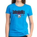 Snowmobile Girl Skull Women's Dark T-Shirt