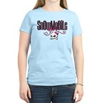 Snowmobile Girl Skull Women's Light T-Shirt