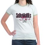 Snowmobile Girl Skull Jr. Ringer T-Shirt