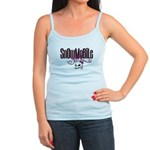 Snowmobile Girl Skull Jr. Spaghetti Tank