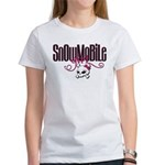 Snowmobile Girl Skull Women's T-Shirt