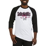 Snowmobile Girl Skull Baseball Jersey