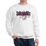 Snowmobile Girl Skull Sweatshirt