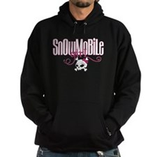 Snowmobile Girl Skull Hoodie