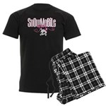 Snowmobile Girl Skull Men's Dark Pajamas