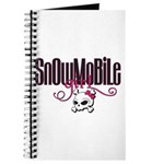 Snowmobile Girl Skull Journal