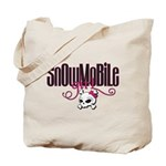Snowmobile Girl Skull Tote Bag