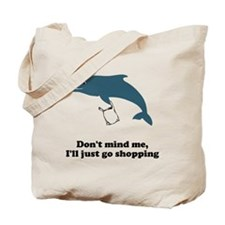 Dolphins Plastic Bags Shirt F Tote Bag