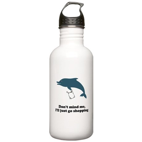 Dolphins Plastic Bags Shirt F Stainless Water Bott