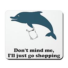 Dolphins Plastic Bags Shirt F Mousepad