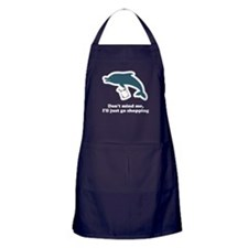 Dolphins Plastic Bags Shirt F Apron (dark)