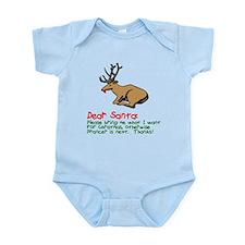 Dear Santa Shot Reindeer Pran Infant Bodysuit