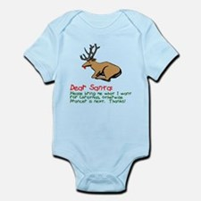 Dear Santa Shot Reindeer Pran Infant Bodysuit