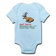 Dear Santa Shot Reindeer Pran Onesie