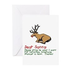 Dear Santa Shot Reindeer Pran Greeting Cards (Pk o