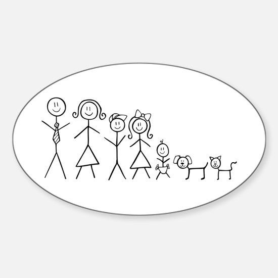 Perfect family Sticker (Oval)
