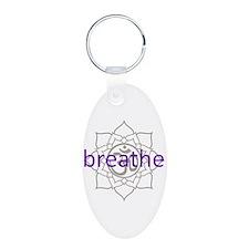 breathe Om Lotus Blossom Keychains
