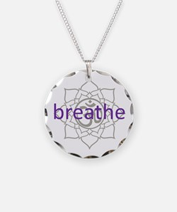breathe Om Lotus Blossom Necklace