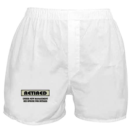 Funny Retirement Gift, Retired, Under Boxer Shorts