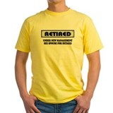 Funny retirement Mens Yellow T-shirts