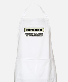 Funny Retirement Gift, Retired, Under New Ma Apron