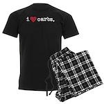 I love carbs Men's Dark Pajamas