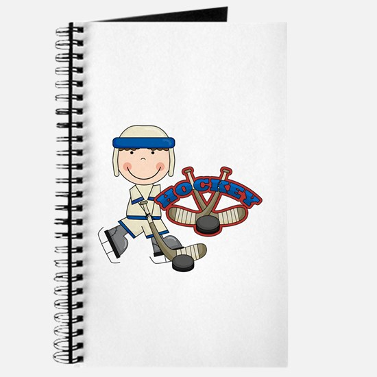 Boy Hockey Player Journal