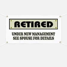 Funny Retirement Gift, Retired, Under New M Banner
