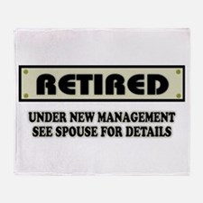 Funny Retirement Gift, Retired, Unde Throw Blanket