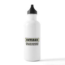 Retired, Under New Management Water Bottle
