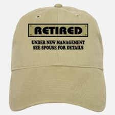 Funny Retirement Gift, Retired, Under New Mana Baseball Baseball Cap