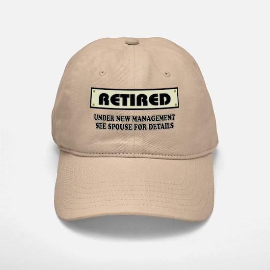 Funny Retirement Gift, Retired, Under New Mana Baseball Baseball Cap