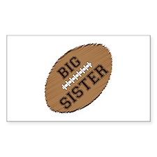 Big Sister Football Decal