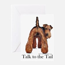Airedale Terrier Talk Greeting Card