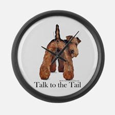 Airedale Terrier Talk Large Wall Clock