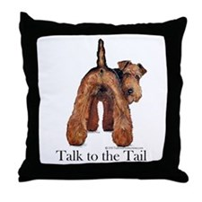 Airedale Terrier Talk Throw Pillow