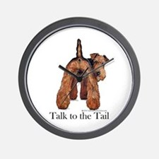 Airedale Terrier Talk Wall Clock