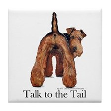 Airedale Terrier Talk Tile Coaster